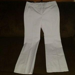 Ann Taylor white dress slacks